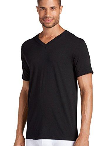 (Jockey Men's Cotton V-Neck T-Shirt 3-Pack, Black XL)