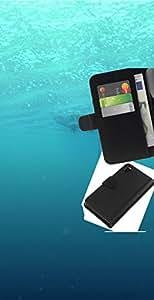 YiPhone /// Tirón de la caja Cartera de cuero con ranuras para tarjetas - Profundo Submarino Océano - Sony Xperia Z3 D6603