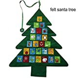 3FT Felt Christmas Tree Decorations with Calendar, Double Stitched- Wall Hanging-Handmade Holiday Party Decor,New Year Home Decorations/green/36inch