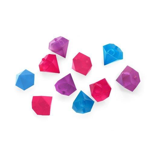 Kikkerland Diamond Shaped Reusable Ice Cubes, Set of 10