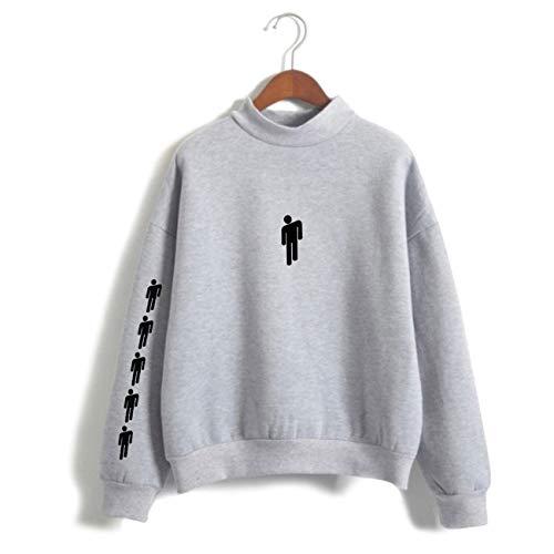 (ZIGJOY Unisex Billie Eilish When We All Fall Asleep Where Do We Go Hoodie Sweatshirt Jumper Pullover for Fans 13085 Grey 4XL)