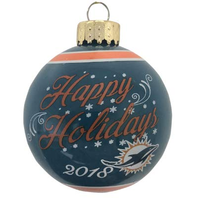 Miami Dolphins NFL Glass Ball Personalized Ornament -(Unique Christmas Tree  Ornament - Classic Decor - Amazon.com: Miami Dolphins NFL Glass Ball Personalized Ornament