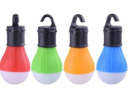 Hpybest Lanterne de camping portable /à suspendre /à 3 LED lumi/ère douce p/êche pile AAA lampe de camping /à LED pour tente de camping 4 couleurs