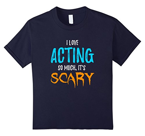 Double Act Halloween Costumes Ideas (Kids I Love Acting T-Shirt as Actors Actress Scary Halloween Gift 12 Navy)