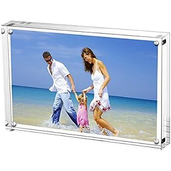 Amazon.com - Acrylic Photo Frames, 3.5x5\'\' Double Sided Magnetic ...