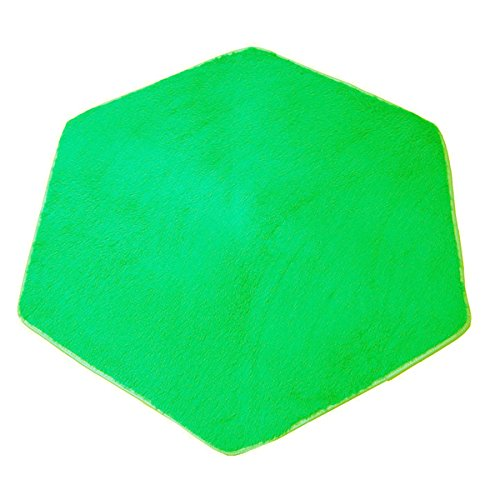 Hexagon Rug Pad Mat ​for Kids Playhouse Play Tent Soft Coral Green