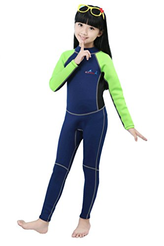 Diving Skin Wetsuit (2mm Neoprene Wetsuit for Kids Boys Girls One Piece Swimsuit)