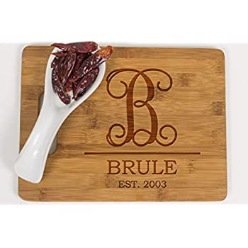 amazon com personalized cutting board wedding gift laser engraved