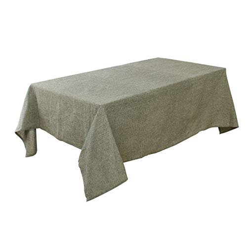 uxcell Washable Seamless Water Oil Stain Resistant Cotton Blends Rectangular Tablecloth 55 inches x 63 inches Wedding Restaurant Parties Decoration Olive Green from uxcell