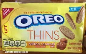 New! Oreo Salted Caramel Thins Cookies 10.1 oz ( 2 Pack)