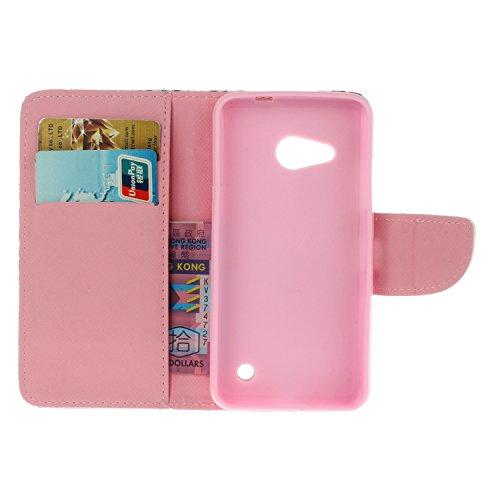 Ecoway Serie pintada Caja del teléfono de moda para Microsoft Lumia 550 Nokia N550 - Couple kaleidoscope
