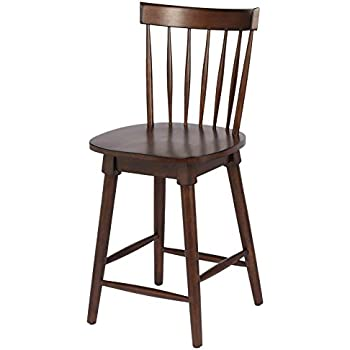 Amazon Com Elise Counter Height Swivel Stool Walnut