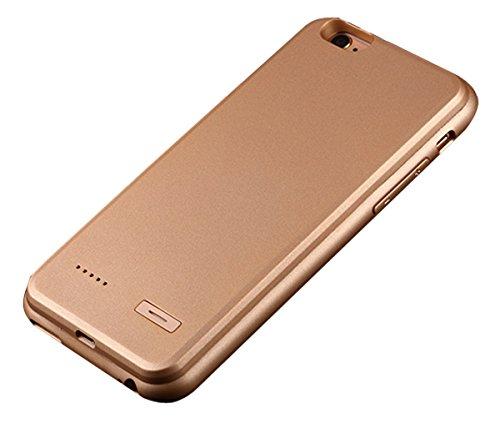 """Imixcity® Portable Ultra Rallonge Téléphone Coque Batterie-Coque Fine avec Batterie Rechargeable pour iPhone 6/6S Plus (pour iPone 6/6S 4.7"""", Or)"""