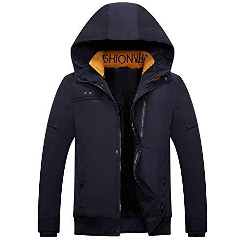 Men's Mountain Snow Waterproof Ski Jacket Hood Windproof Fleece Rain Jacket Winter Coat (Best All Mountain Snow Skis)
