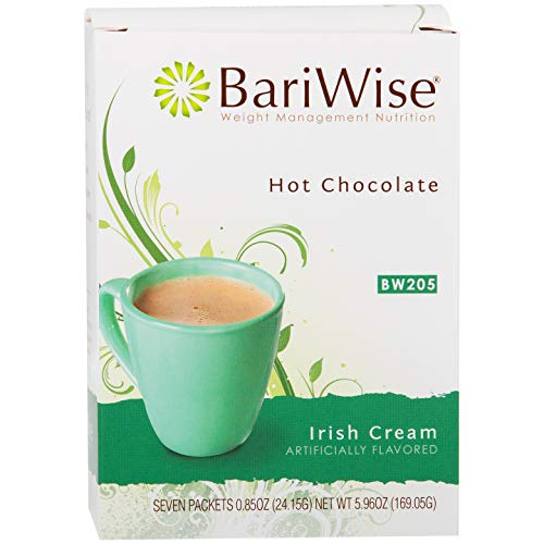 BariWise High Protein Hot Cocoa - Instant Low-Carb, Low Calorie Hot Chocolate Mix with 15g Protein - Irish Cream (7 Count) ()