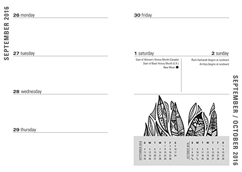 2017 Believe in Yourself Weekly Planner (16-month Adult Coloring Calendar)