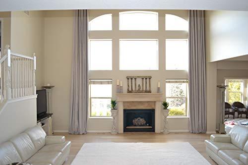 18' Custom Panel - Ikiriska 100% Blackout Extra Long Faux Linen Curtains with Rubber Backing. Beige Cream Silver Gray. Custom Made. 16-20 feet Length (Cream, 100