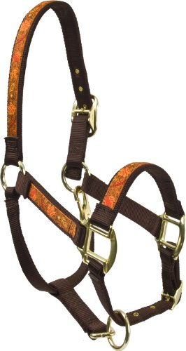 Red Haute Horse FL1403 A Equine Elite Horse Halter, Fall Leaves