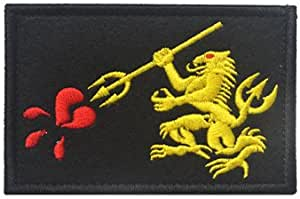 embroidered badge smiley morale seal team six HAVE A tag patch VELCRO® brand