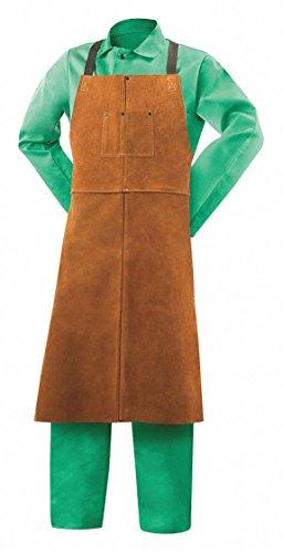 (Steiner Split Cowhide LeatherWelding Bib Apron, Length 42