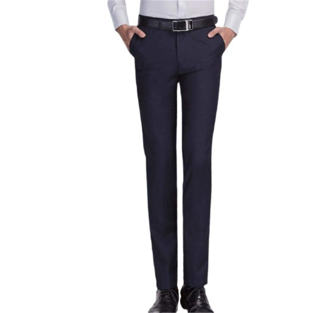 Comaba Men Straight Tailored Fit Casual Wrinkle-Resistant Work Pants