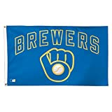 MLB Milwaukee Brewers 01781115 Deluxe Flag, 3' x 5'