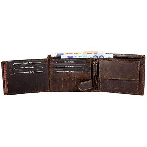 Bag En Pour Street Cuir Homme Rustique De Style Portefeuille Vachette Gris R6r6qI