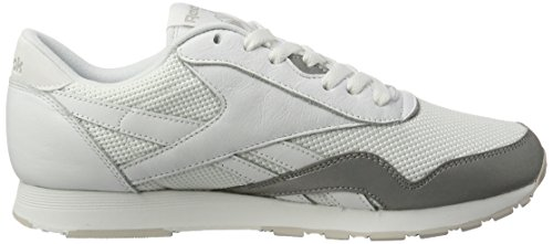 6fb00c932a6d Reebok Men s Classic Nylon Tech Mix Trainers White (White Steel  Silver 000)  9.5 UK  Buy Online at Low Prices in India - Amazon.in