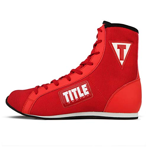 Title Boxing Innovate Mid Boxing Shoes, Red, 11