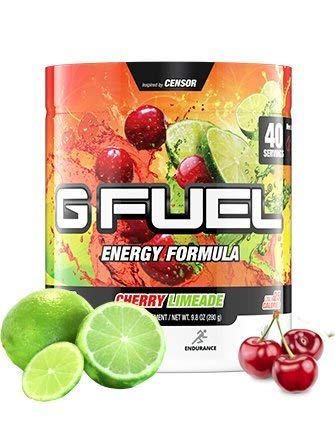 G Fuel Cherry Limeade Tub (40 Servings) Elite Energy and Endurance Formula by G Fuel
