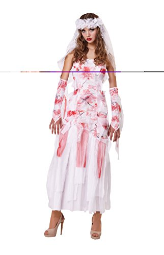 Bristol Novelty Ladies Halloween Grave Bride Costume UK Size -