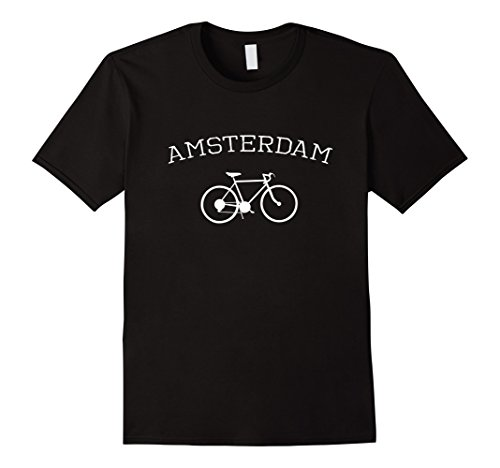 Mens Amsterdam City Cyclist T-Shirt for Bike Lovers Large (Amsterdam Tee)