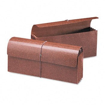 Smead 3 1/2 Inch Expansion Wallets, 12 x 5, Leather-Like Redrope