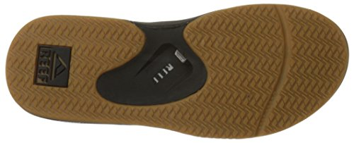Reef Fanning Mens Sandals Bottle Opener Flip Flops for Men,Black/Silver,12 M US by Reef (Image #3)