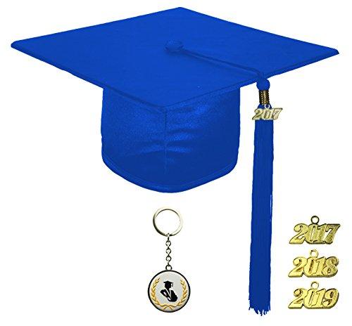 [해외]FIT4GRAD 반짝이 졸업 모자 술 현 세트 2017 2018 2019/FIT4GRAD Shiny Graduation Cap Tassel Signet Set 2017 2018 2019