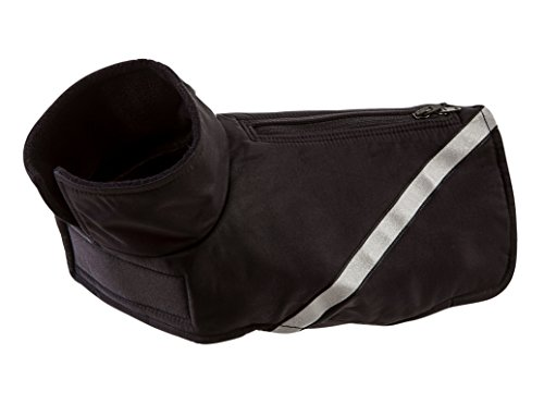 2.0 Dog Coat - RC Pet Products Whistler Zip Line Version 2.0, Water-Resistant, Fleece Lined, Reflective Dog Coat, Size 28, Black