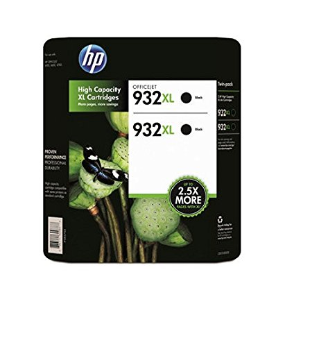 HP 932XL Black 2 Pack in Retail Packaging CR315BN