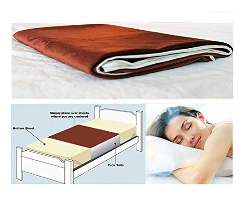 Mattress Protector Waterproof Luxurious - Cycleliners Period Bed Sheets Protector - Waterproof, Leakproof and Reusable Menstrual Bed Pad (Queen, Brown)
