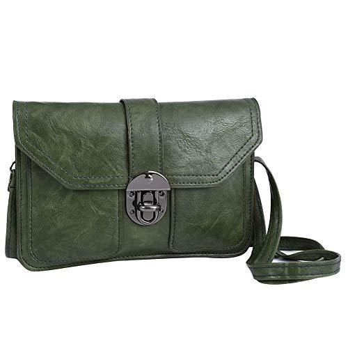 Womens Small Cell Wallet Women Leather Phone Crossbody Bag Purse TENXITER Green for Bags dA1qdB