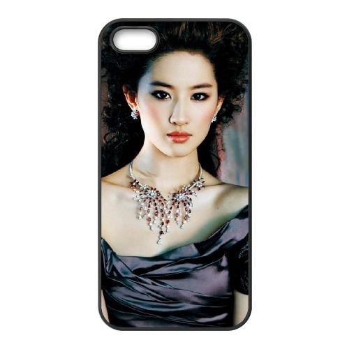 Liu Yifei Chinese Actress coque iPhone 5 5S cellulaire cas coque de téléphone cas téléphone cellulaire noir couvercle EOKXLLNCD25599