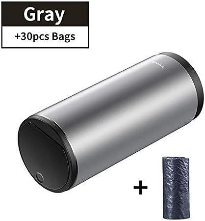 Black Spain Black DJLHN Baseus Alloy Car Trash Can Auto Organizer Storage Bag Car Garbage Bin Ashtray Dust Case Holder Auto Accessoires