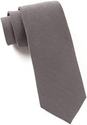 The Tie Bar Metallic Gray Solid Wool 3 Inch Tie