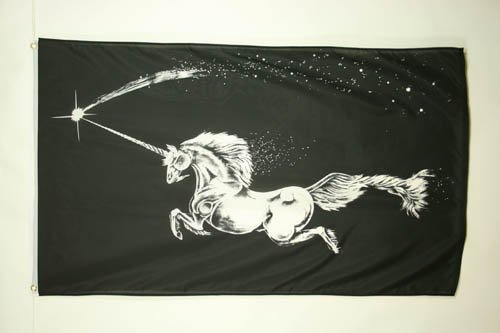 - AZ FLAG Black Unicorn Flag 3' x 5' - Unicorn Flags 90 x 150 cm - Banner 3x5 ft