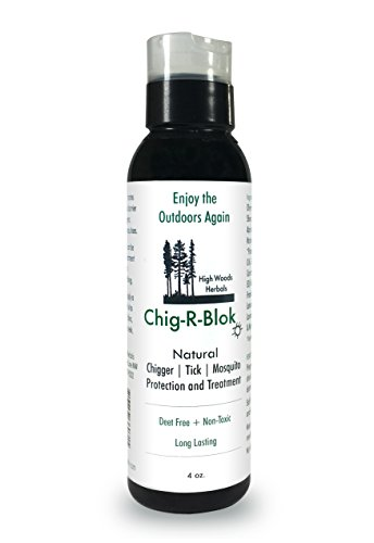 (Chig-R-Blo, Chigger Block, Deet-Free Insect, Tick & Mosquitoes All Natural Repellent & Treatment Oil, 4 oz)