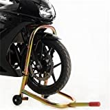 Pit Bull Hybrid Headlift Motorcycle Stand, Steering Stem Lift w/ fixed handle; Lift Sport Bikes from Triple Tree