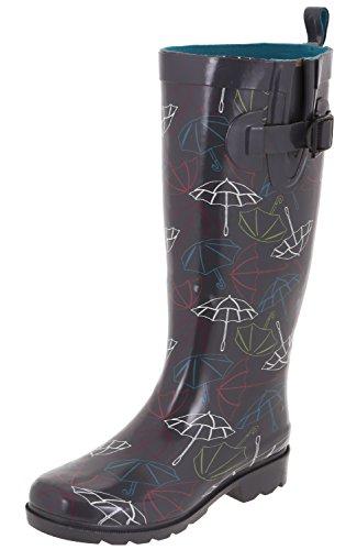 Boots Multi Rubber Grey Capelli Tall York Rain Shiny Ladies New CzwqxC0T