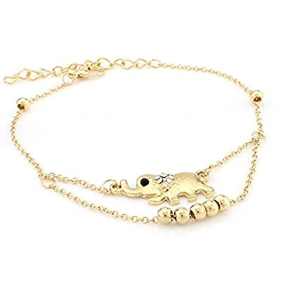 Hot Women Euramerican Fashion Retro Sweet Pearl Beaded Stretch Anklet hot sale