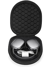 Yinke Smart Case for New Apple AirPods Max Supports Sleep Mode , Hard Organizer Portable Carry Travel Cover Storage Bag (Black)