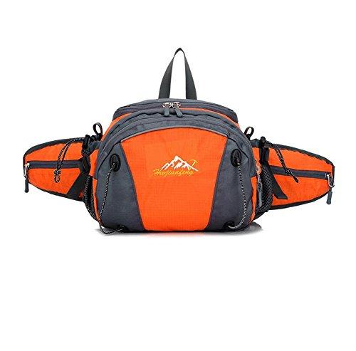 Wmshpeds Piscina multi-bolsillos funcionales del hombre cremallera doble escalada bolso impermeable mochila equitación deportes de mujeres C