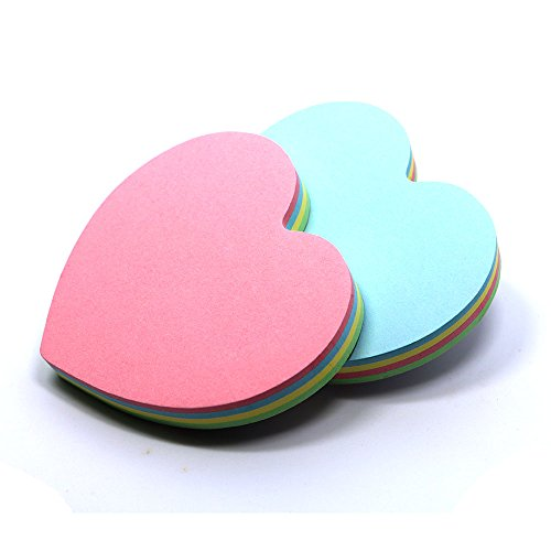 jeruix-80x80cm-heart-shaped-sticky-notes-posted-self-adhesive-paper-notes-facilitated-stickers-notep